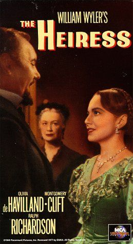 The Heiress  with Olivia de Havilland and Montgomery Clift.......Uploaded By www.1stand2ndtimearound.etsy.com..