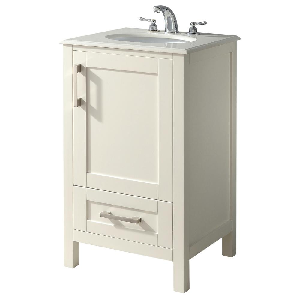 Simpli Home Westbridge 20 In Bath Vanity In Soft White With