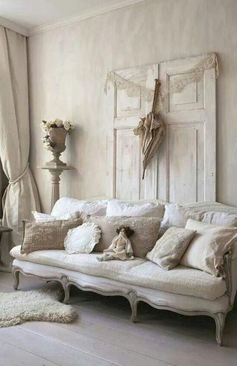 Awesome 41 Adorable Shabby Chic Living Room Designs Ideas More at