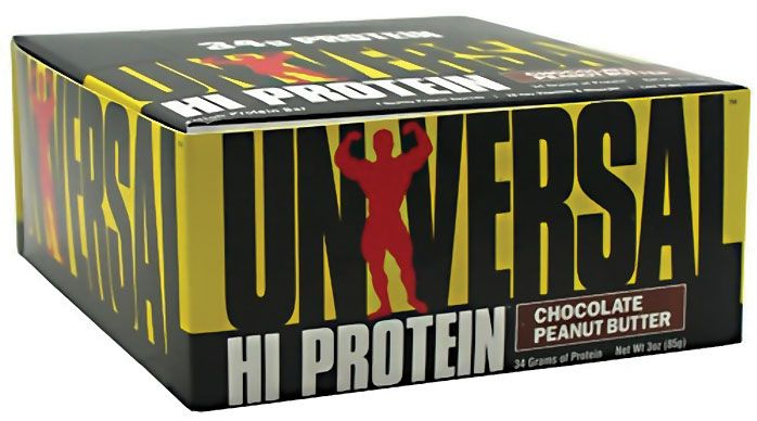 Universal HI Protein Chocloate Peanut Butter Protein Bar ...