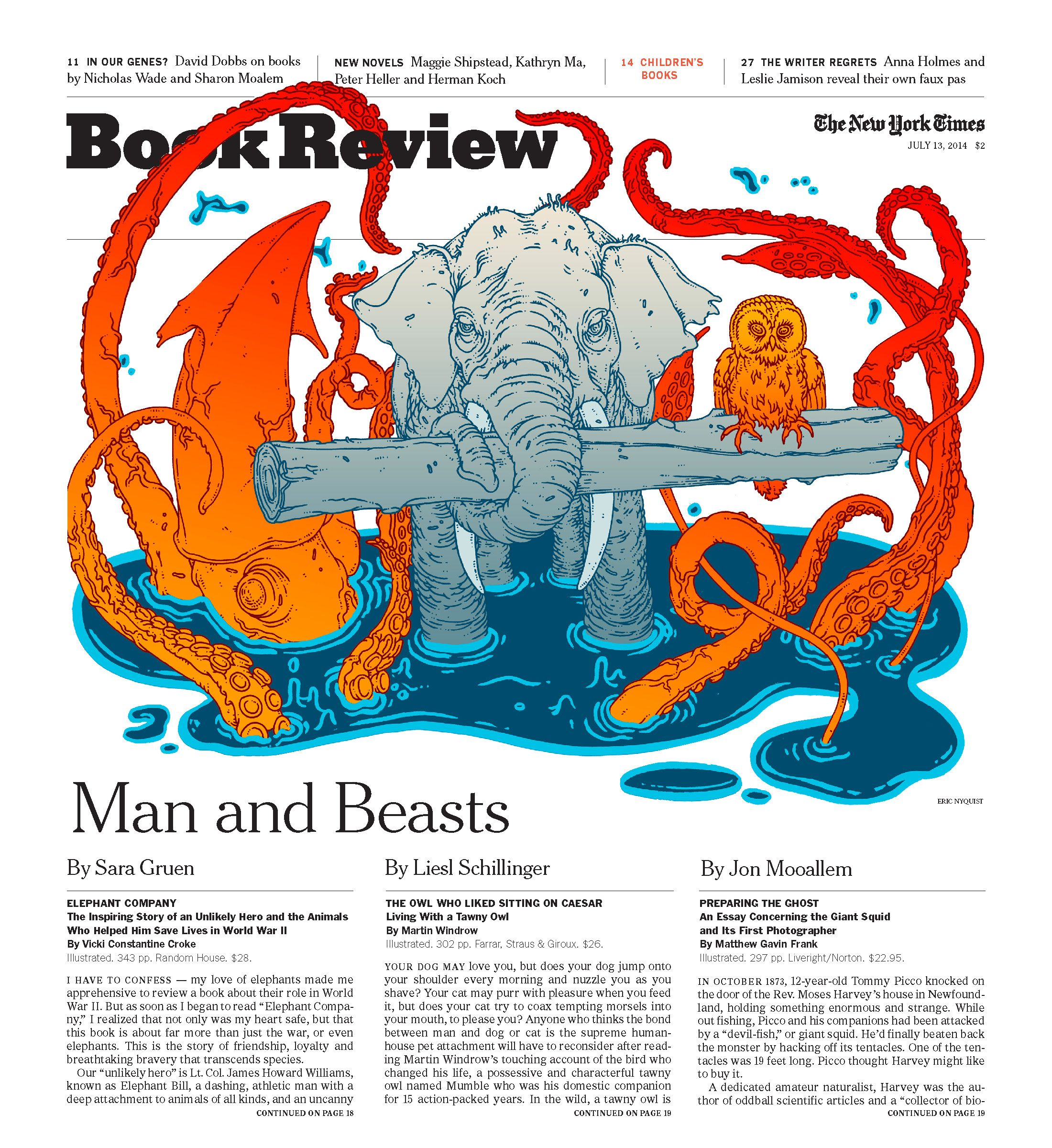 Cover for New York Times Book Review! By Eric Nyquist