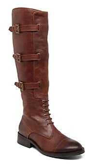 """Vince Camuto Fenton"""" Lace-Up Knee High Boots on shopstyle.com"""