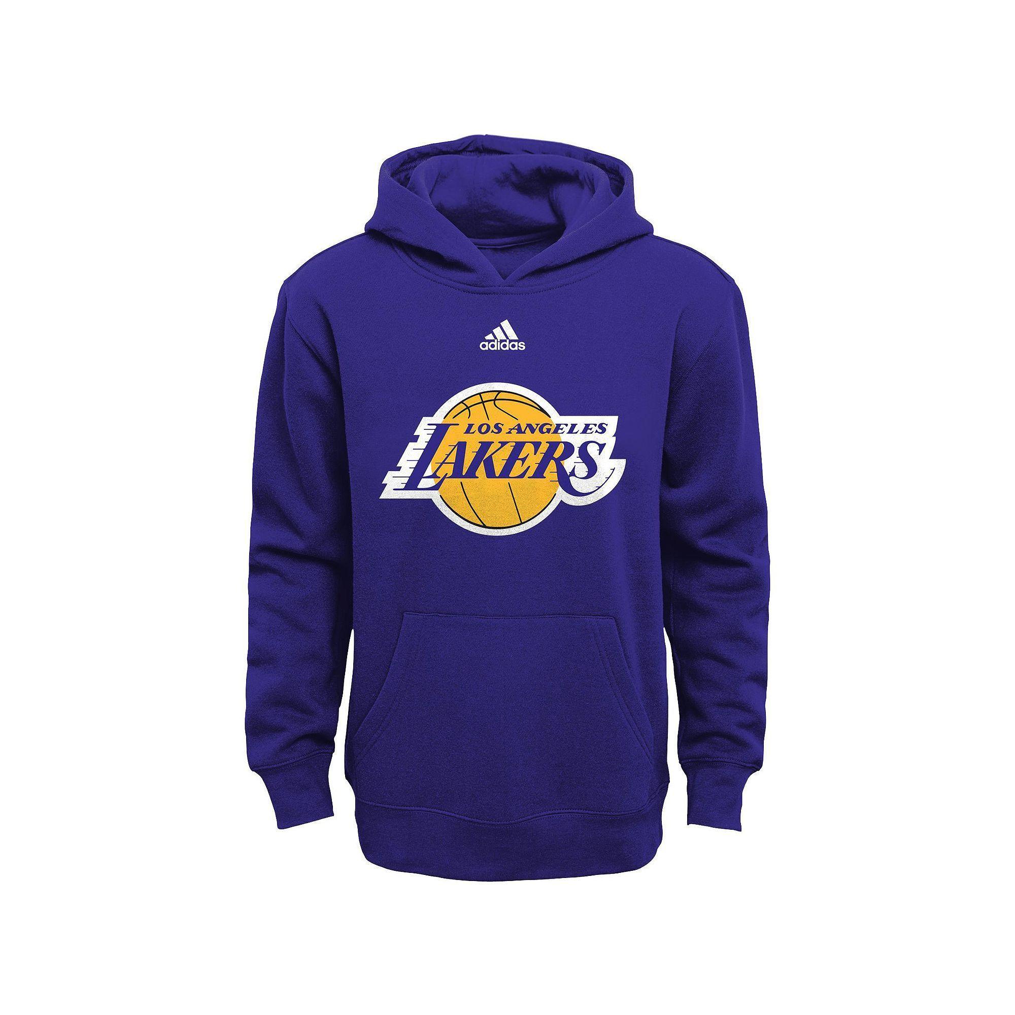 Boys 8 20 adidas Los Angeles Lakers Prime Pullover Fleece