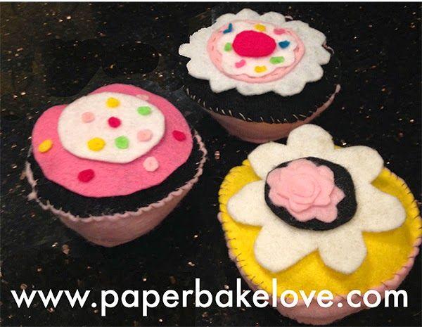 Cute Felt Cupcakes