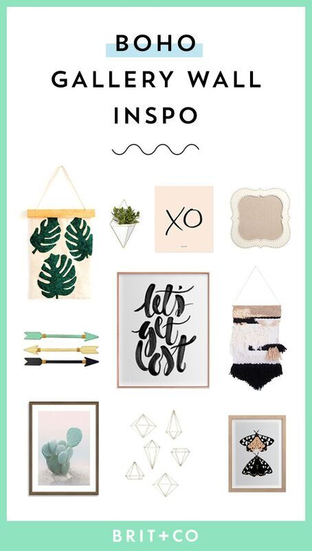 Put together a gallery wall with a boho aesthetic with - Stuff to put in your room ...