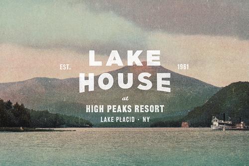 The Lake House branding