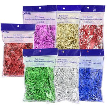 Metallic foil shred for Gift Wrapping filler for gift box