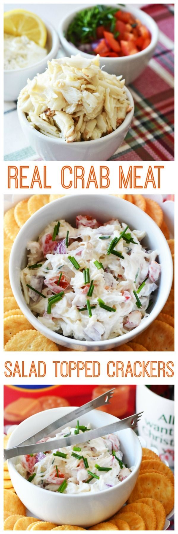 Real Crab Meat Salad Cracker Appetizer