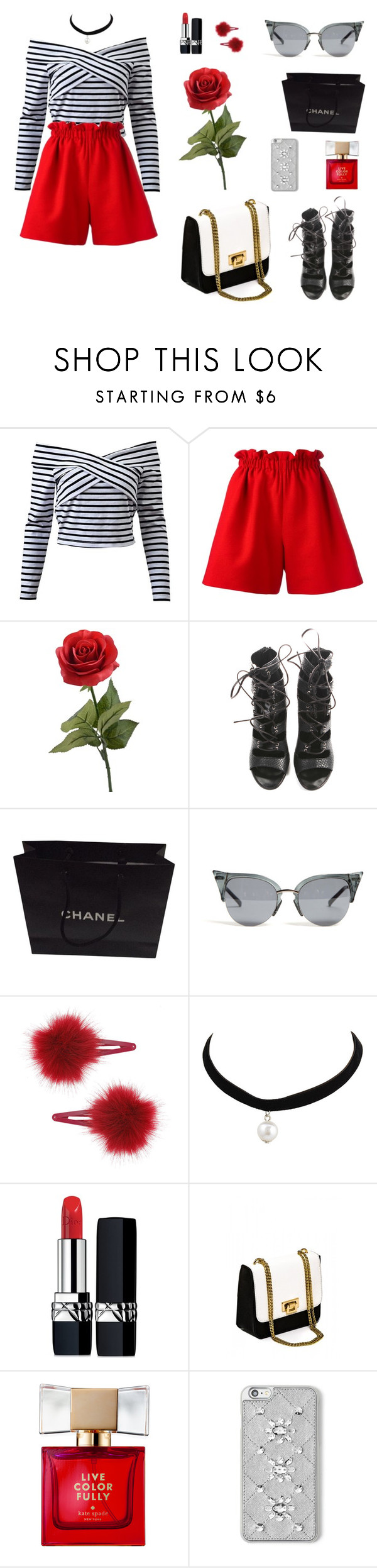 """Burr"" by twyzter ❤ liked on Polyvore featuring Fendi, Balmain, Chanel, Topshop, Christian Dior, Kate Spade and MICHAEL Michael Kors"