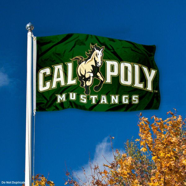 Cal Poly Mustangs Banner and Scroll Sign