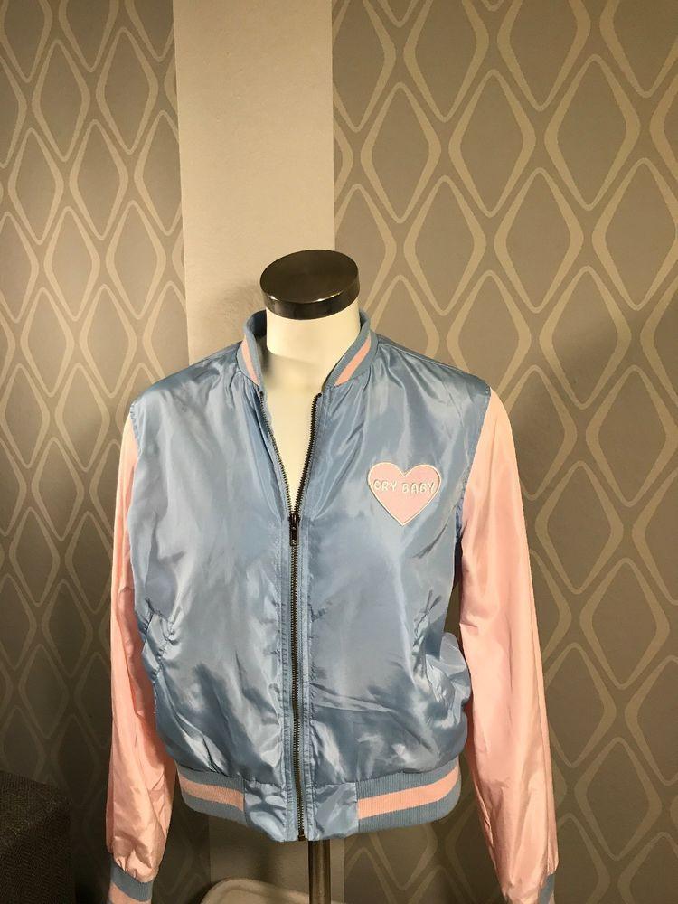 Melanie Martinez Hot Topic Cry Baby Satin Bomber Jacket Sz Md Women Fashion Clothing Shoes Accessories Denim Coat Women Coats For Women Jackets