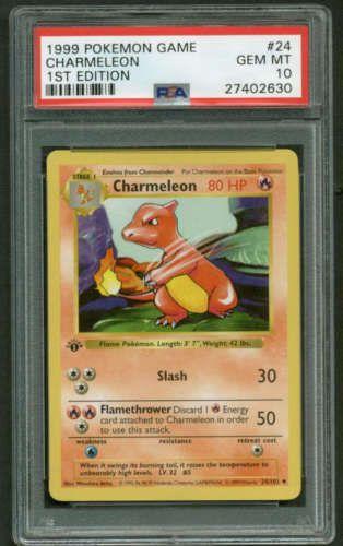 1999 Pokemon Charmeleon 1st First Edition Base Shadowless Psa 10 Gem Mint Pokemon Cards For Sale Pokemon Pokemon Cards