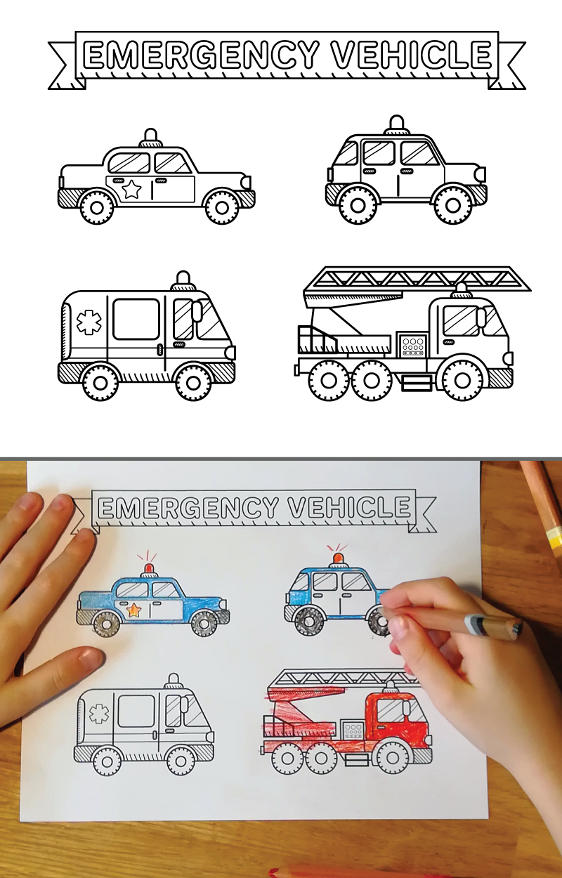 Emergency Cars Train Coloring Pages Coloring Books Coloring Pages