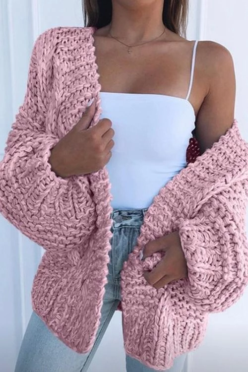 Photo of Puff Sleeve Loose Cardigan