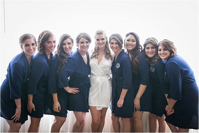 unique style uk availability sells Navy Bridesmaid Robes ~ Bridal Party Ideas ~ Photo: Steve ...