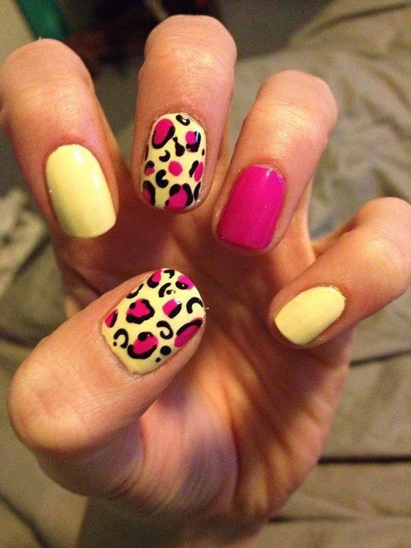 50 Stylish Leopard And Cheetah Nail Designs Pinterest Cheetahs