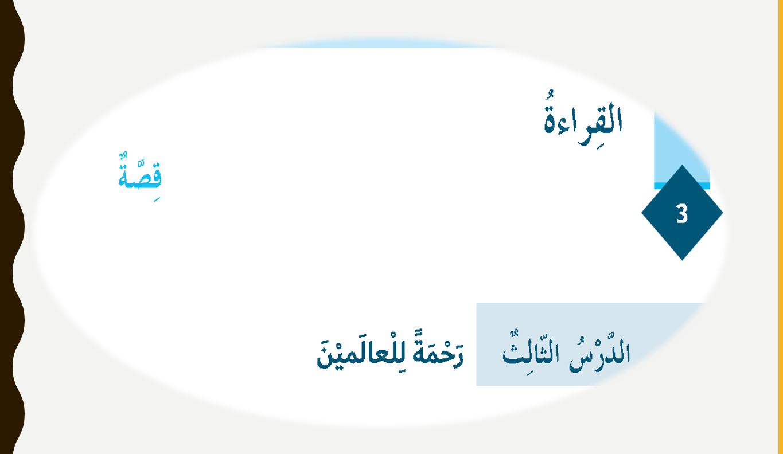 بوربوينت درس الرابع رحمة للعالمين للصف السادس مادة اللغة العربية Pie Chart Chart