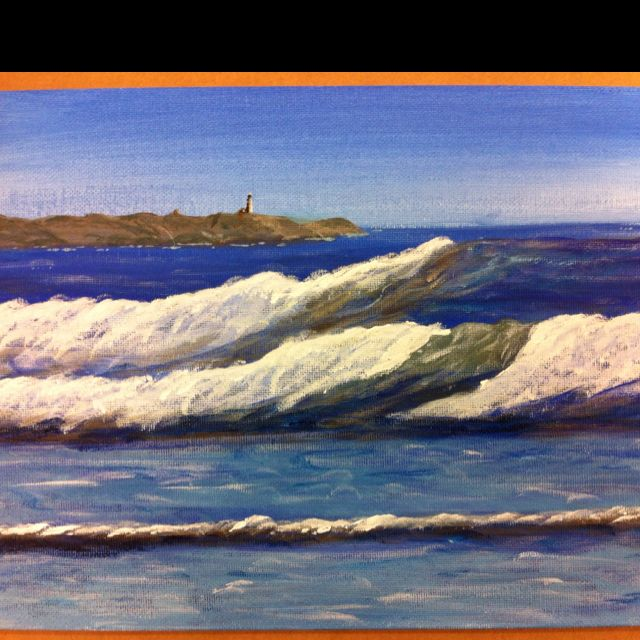 Seascape sample painting.