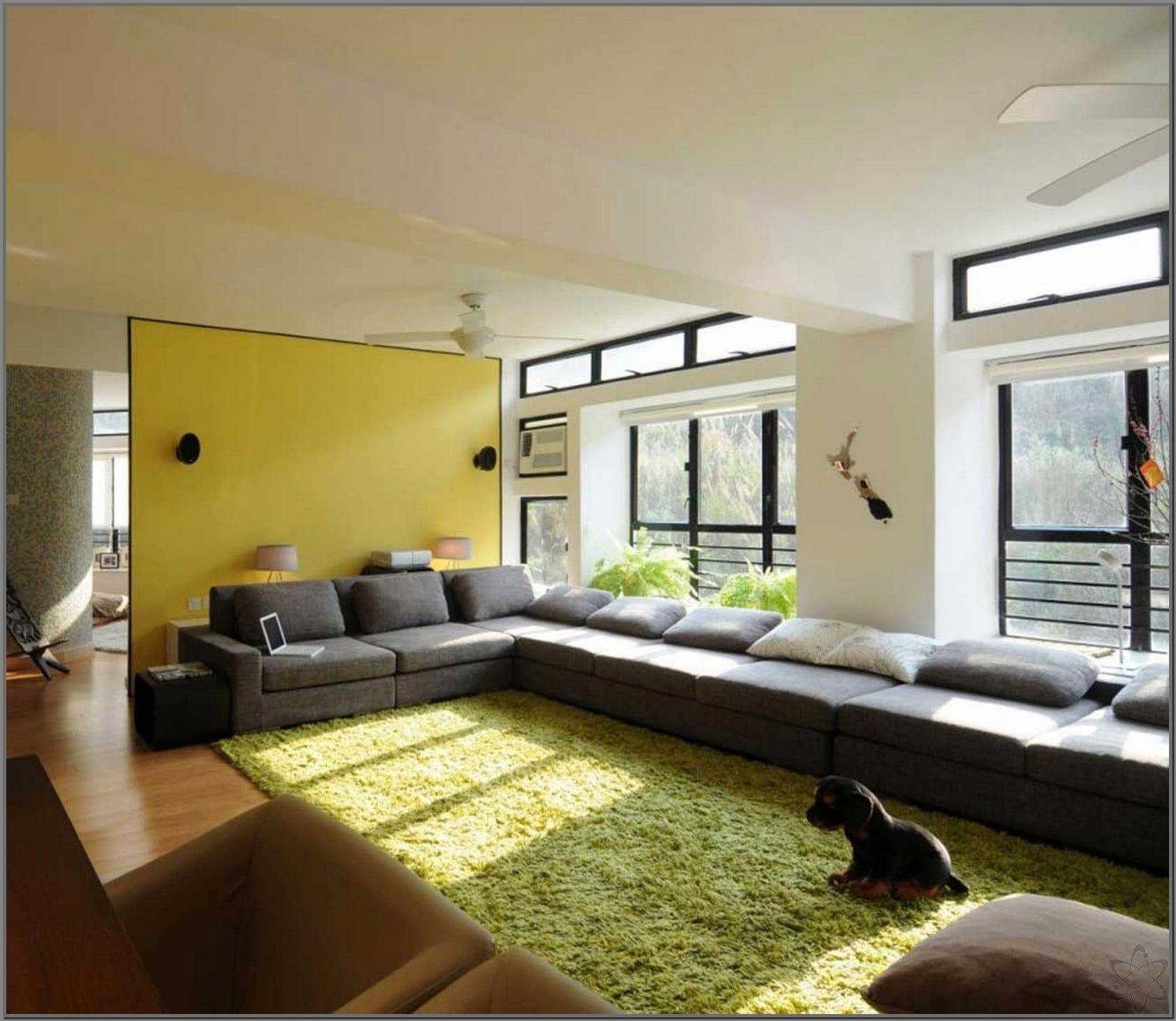 Desain Rumah Ruang Tamu Luas  Ruang keluarga minimalis, Warna