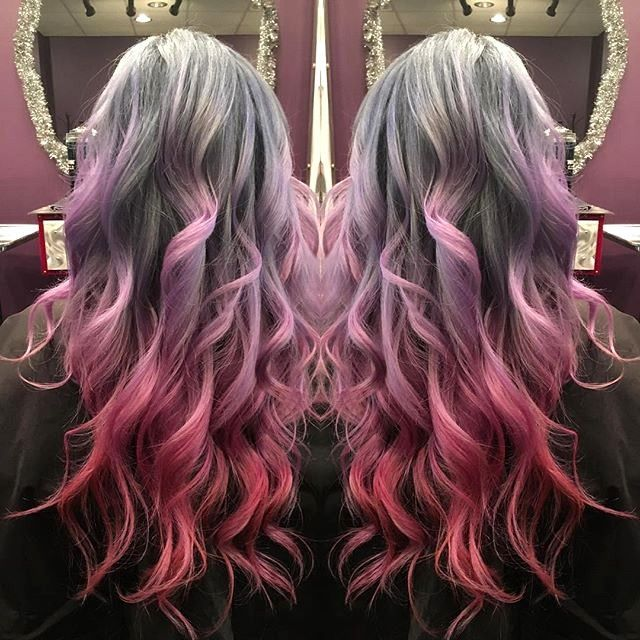 Image Result For Gray Hair With Red Hair Edgy Hair Curly Hair Styles