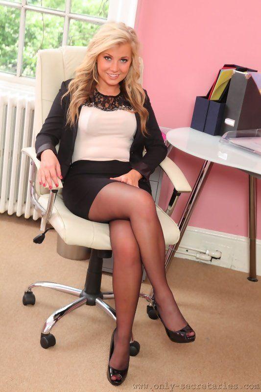 Angela the office pantyhose