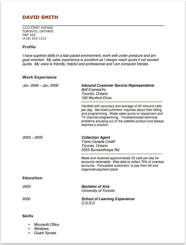 No Work Experience Resume Up To Date Pin By Topresumes On Latest