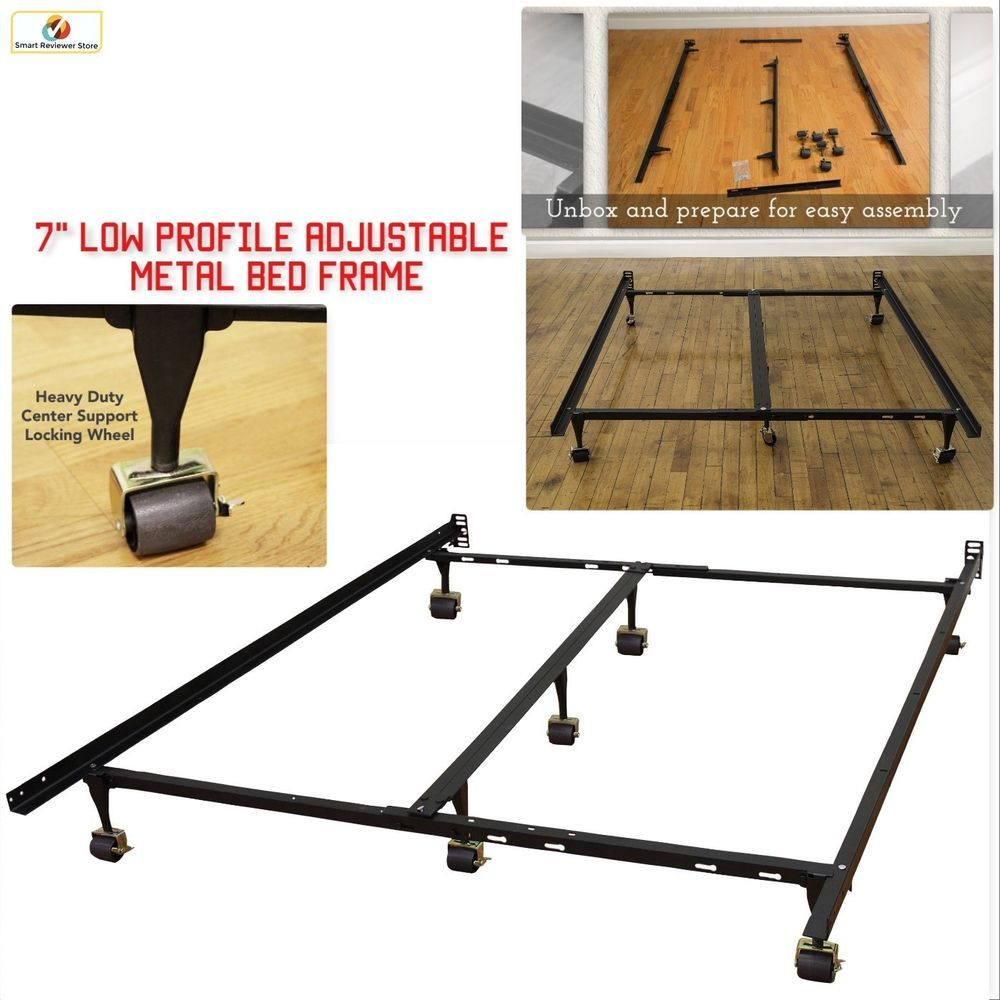 King Size Metal Bed Frame Adjustable to Twin Full Queen