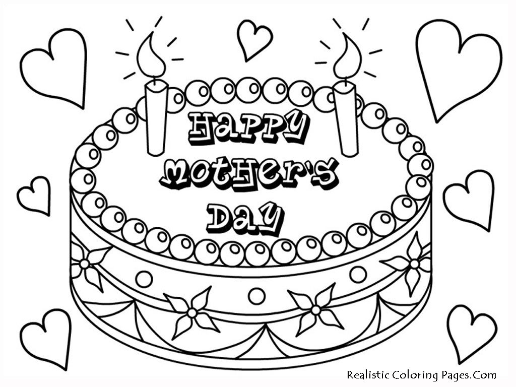 Mothers Day Printable Coloring Pages Happy Mothers Day