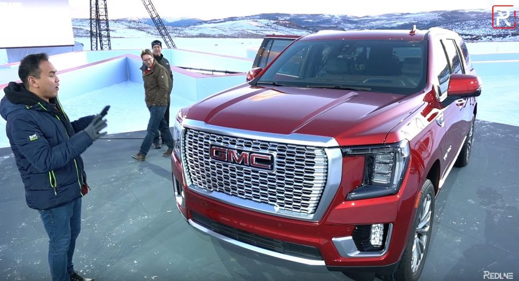 First Look 2021 Gmc Yukon Is A Luxurious Suv With A Massive Cabin In 2020 Gmc Yukon Gmc Suv