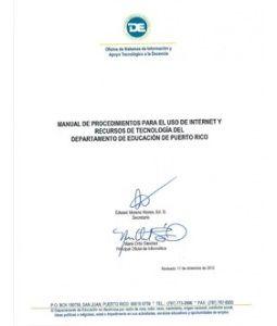 Manual de Procedimiento para el uso de Internet y Recursos Tecnológicos
