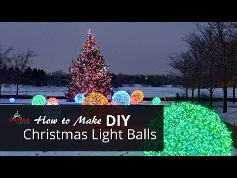 How to Make Christmas Light Balls Christmas Pinterest