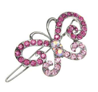 Fuchsia and Light Rose Swirling Wing Butterfly Hair Clip Willowbee. $16.99
