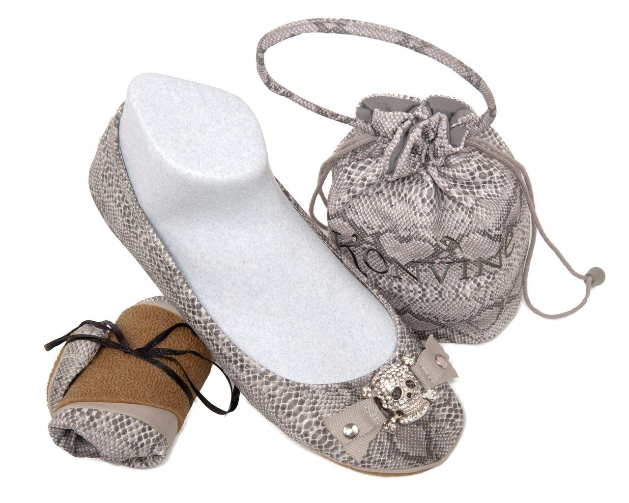 Snakeskin RollUps with Skull Ballerina shoes, Up shoes