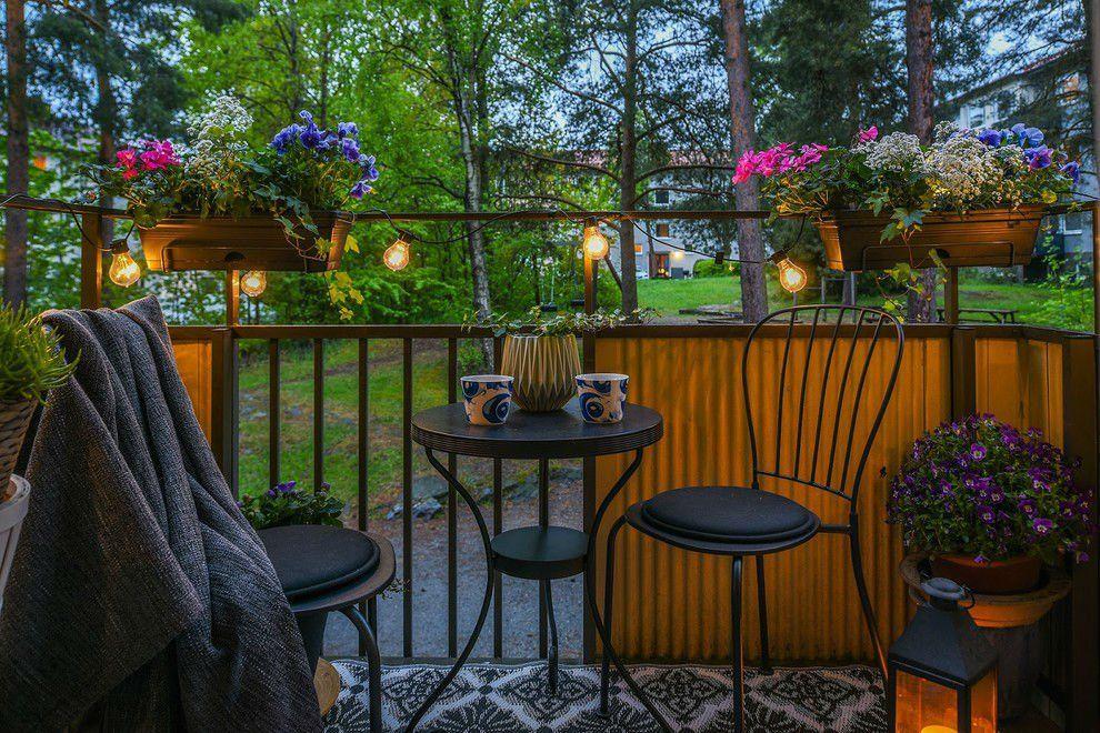 22 Charming Scandinavian Small Balcony Designs   Small balcony ...