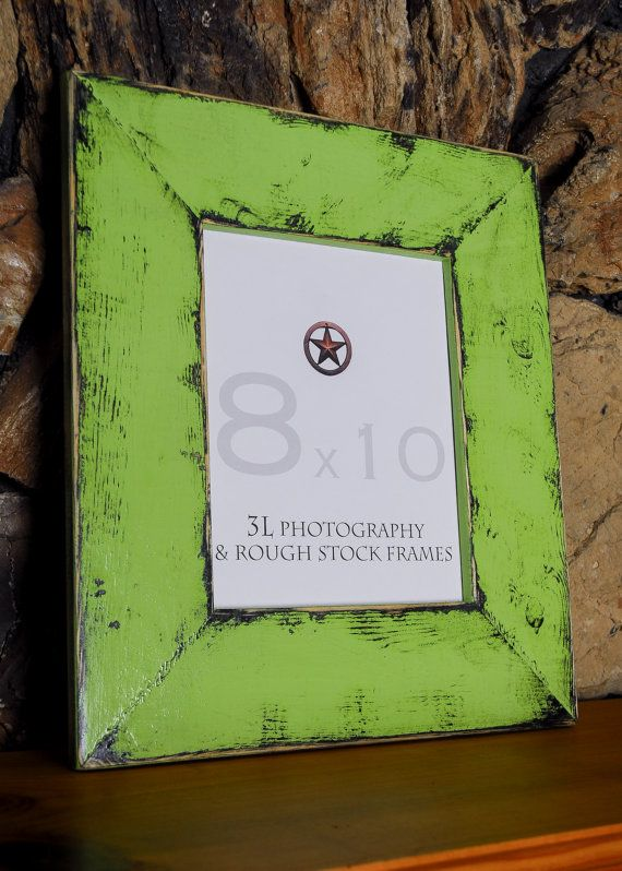 Shabby Chic Frame Picture Photo LIME GREEN Frame by 3LPhotography ...