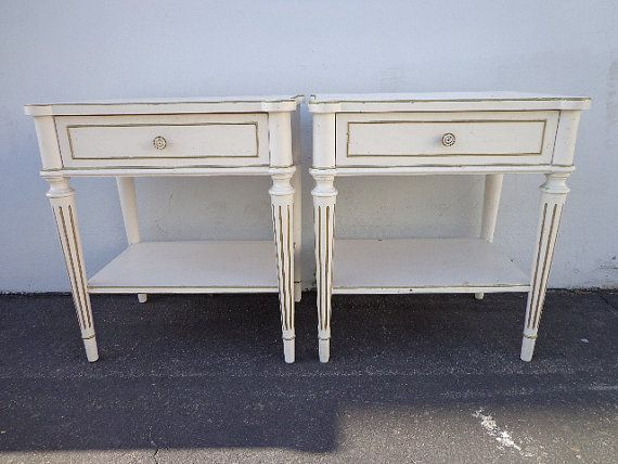 2 Vintage Thomasville Chic Gorgeous Of Hollywood By Dejavudecors 479 00 Vintage Furniture French Bedside Tables Contemporary Decorating
