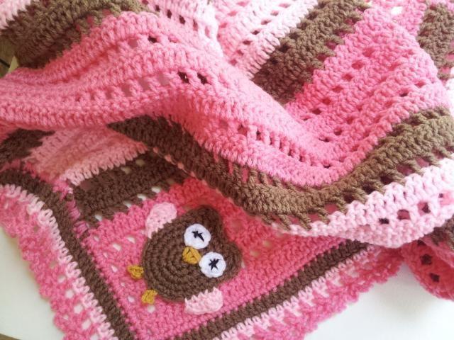 Crochet Baby Owl Blanket   Pinterest