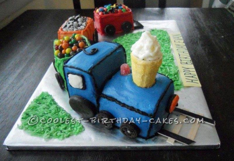 Coolest Homemade Train Cake Homemade Cake and Cake birthday