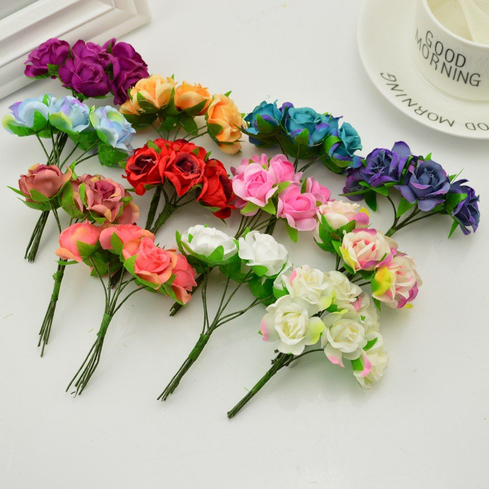 Find More Artificial Dried Flowers Information About 18pcs Silk