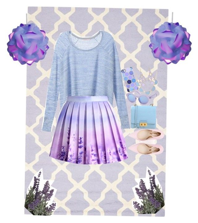 """""""Lavender Lover"""" by greygrey1114 on Polyvore featuring Safavieh, Victoria's Secret, Casetify, Charlotte Russe, Towne & Reese, Sonia Rykiel, T Tahari and Sophia Webster"""