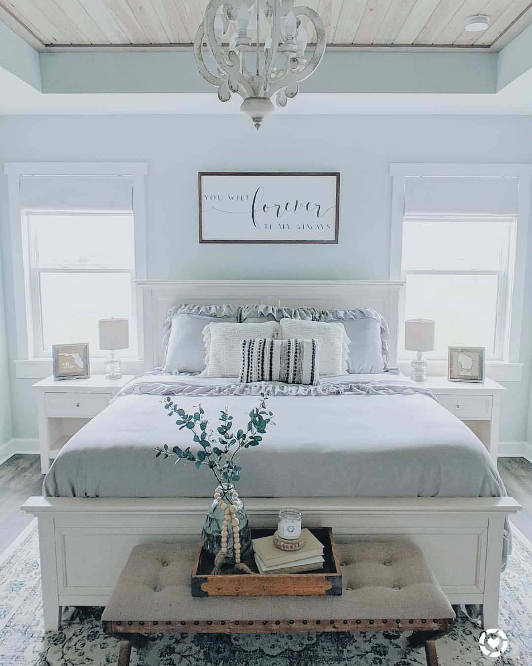 Comment A If You Love This Color Scheme Remingtonranchfarmhouse W Farmhouse Style Master Bedroom Home Decor Bedroom Master Bedroom Makeover
