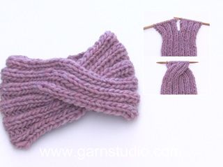Wie man ein Stirnband mit einem Zopf an der vorderen Mitte strickt #knitheadbandpattern
