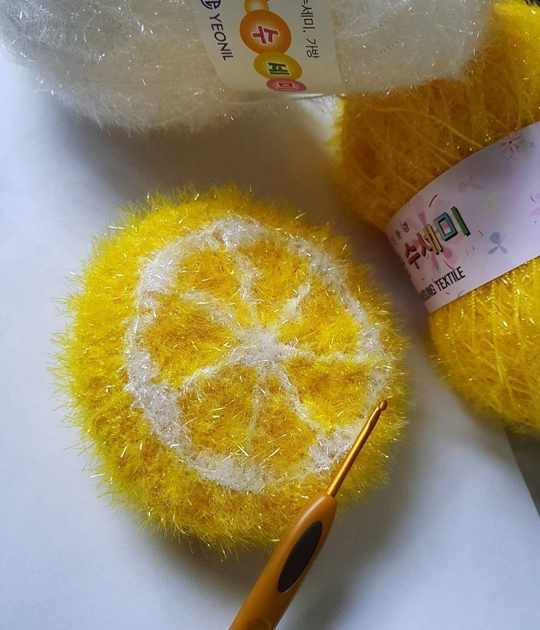 Zitrone Schwammgarn Crochet Diy Crochet Und Knit Crochet