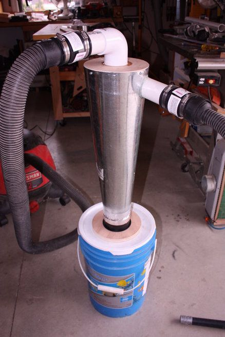 DIY Cyclone Dust Collector - by SimonSKL @ LumberJocks.com ~ wood… | DIY Cyclone Dust Collector ...