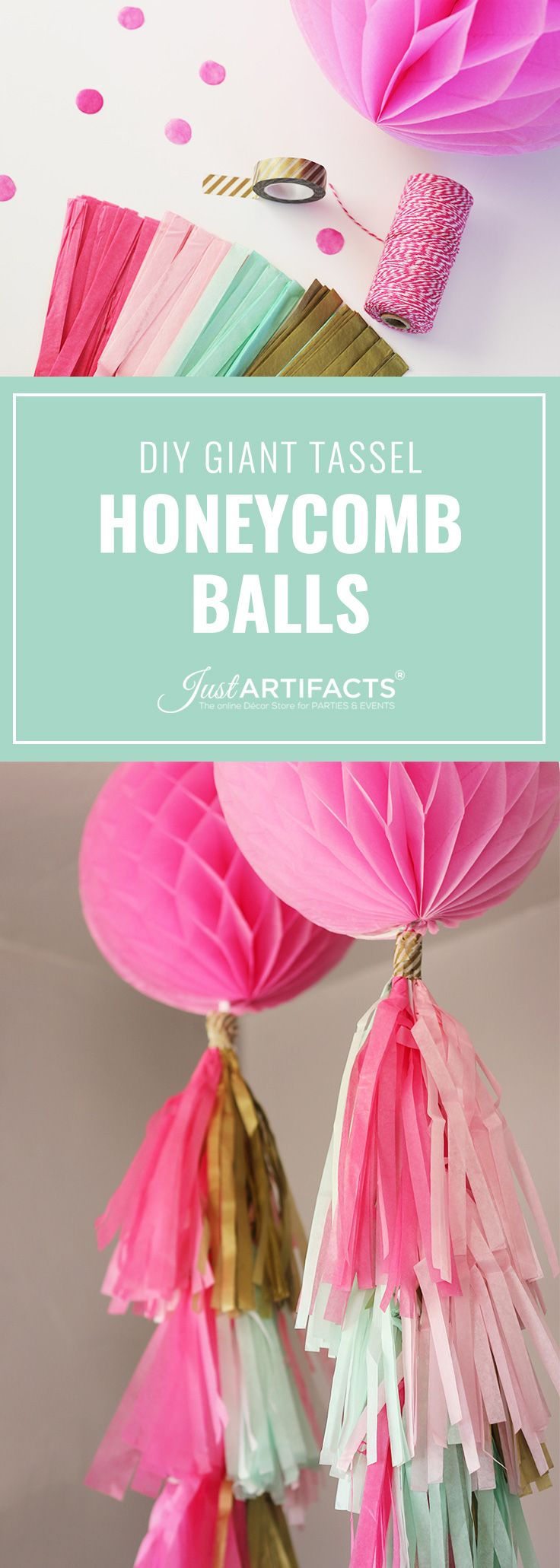 Honeycomb Ball Decorations Diy Giant Tassel Honeycomb Balls  These Simple Honeycomb Ball