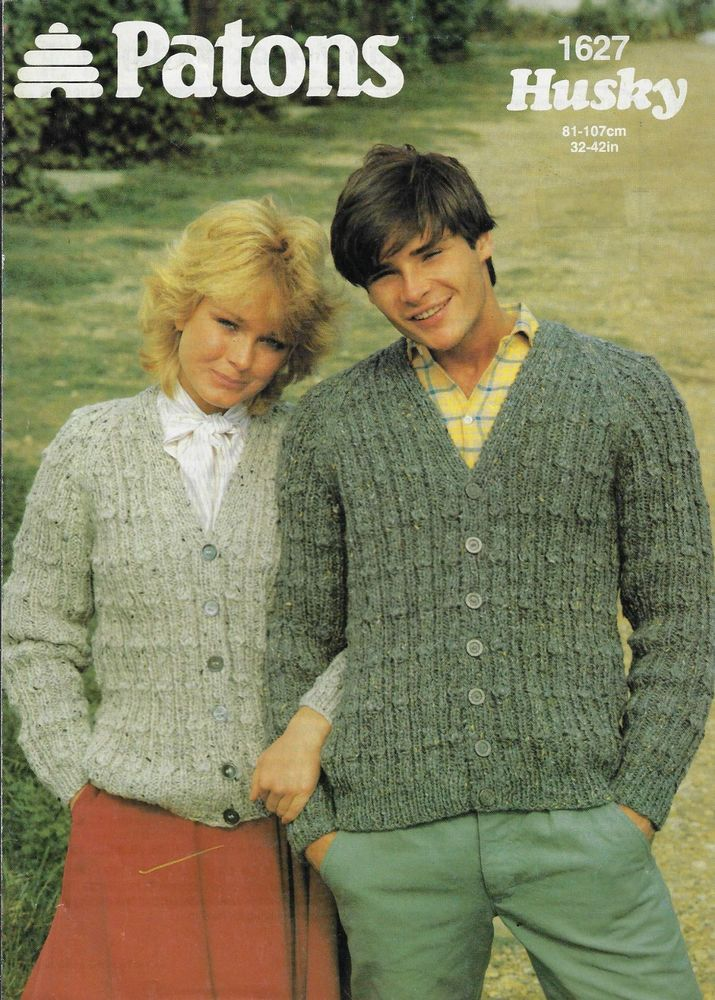 Details About Mens Womens Textured Cardigan Patons 1627 Knitting