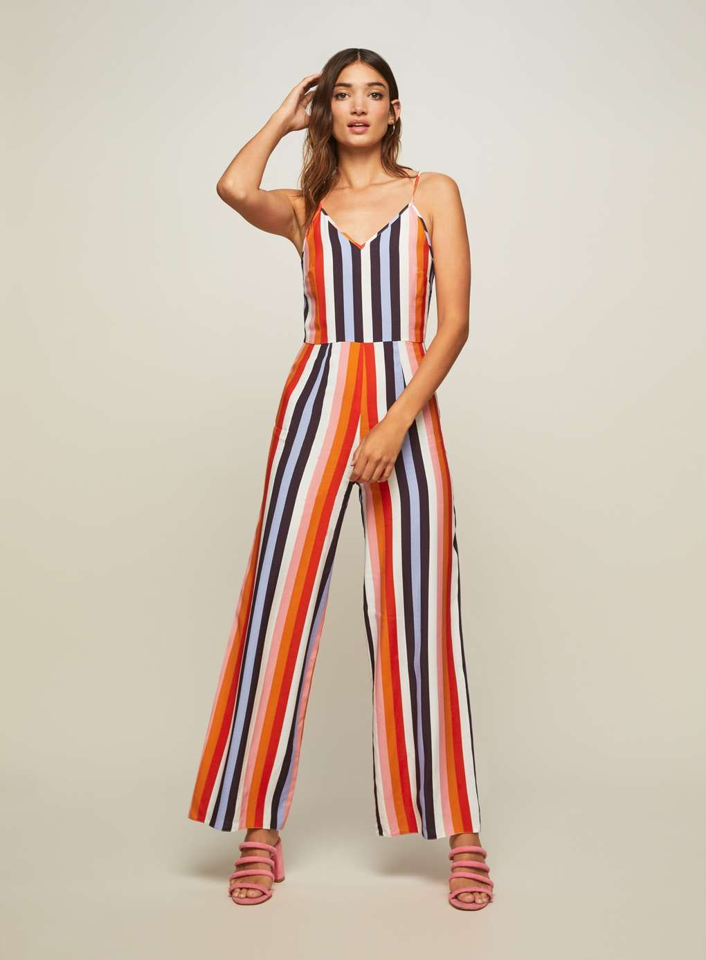 7a97100752e Rainbow Wide Leg Striped Camisole Jumpsuit