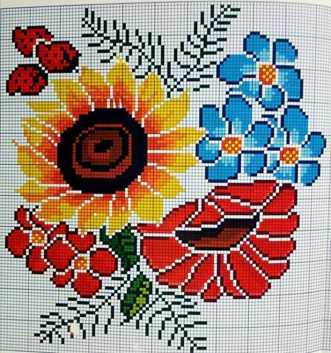 639 Kit Punto De Cruz Vintage Rosas Art
