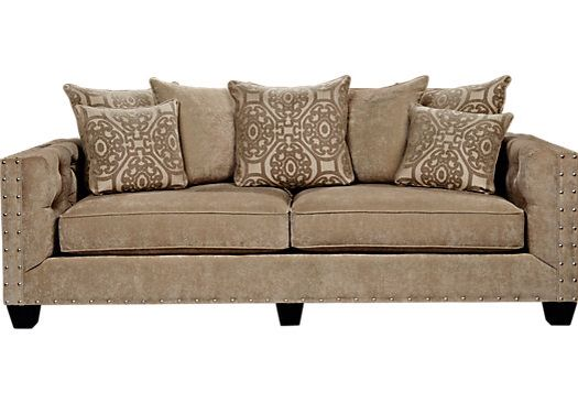 Cindy Crawford Collection Sydney Road Couch Taupe Sofa Leather Sofa Sale Rooms To Go Furniture
