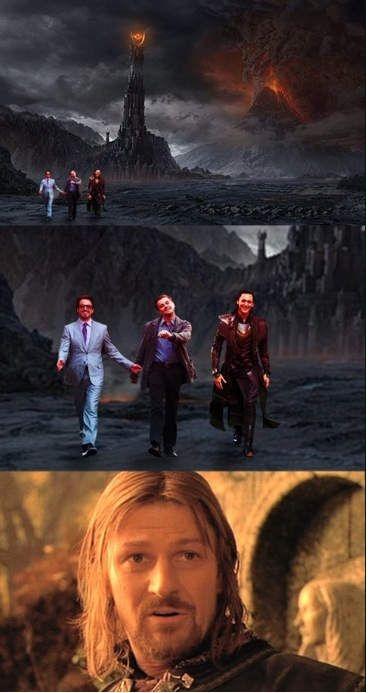 Tom Hiddleston. One DOES simply walk into Mordor.